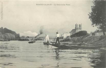 """/ CPA FRANCE 78 """"Mantes La Jolie, la Seine et les ponts"""""""