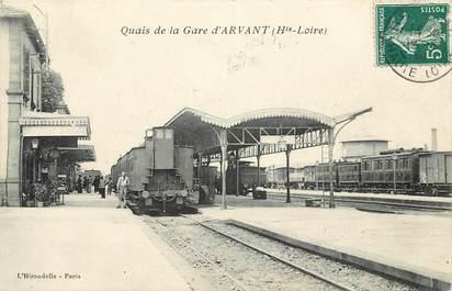 """CPA FRANCE 43 """"Quai de la Gare d'Arvant"""" / TRAIN"""