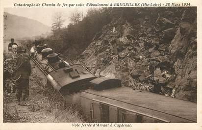 """CPA FRANCE 43 """"Catastrophe de chemin de fer à Brugeilles"""" / TRAIN"""