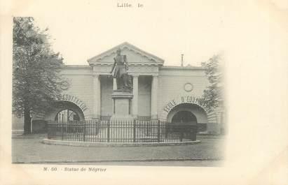 """/ CPA FRANCE 59 """"Lille, Statue de Négrier"""""""