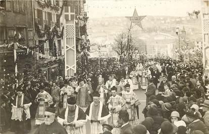 """CARTE PHOTO FRANCE 43 """"Le Puy, Jubilé 1932, le passage de la vierge noire"""""""