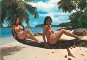 """Nu / Érotisme / CPSM BAIGNEUSES """"Port Glaud, Seychelles""""  / NU"""