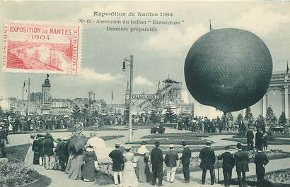 "CPA FRANCE 44 "" Nantes, Exposition 1904, ascension du ballon "" / DIRIGEABLE"