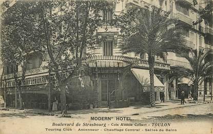 """CPA FRANCE 83 """"Toulon, Bld de Strasbourg, Modern'Hotel"""""""