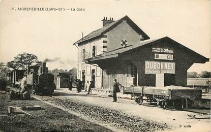 "CPA FRANCE 44 ""Aigrefeuille, la gare"" / TRAIN"
