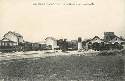 "CPA FRANCE 44 ""Herbignac, la gare"" / TRAIN"