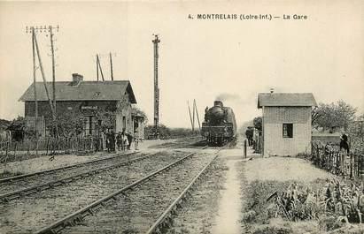 """CPA FRANCE 44 """"Montrelais, la gare"""" / TRAIN"""