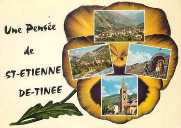 """/ CPSM FRANCE 06 """"Souvenir de Saint Etienne de Tinée"""""""