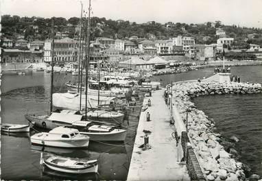 """/ CPSM FRANCE 06 """"Saint Jean Cap Ferrat, le port et vue sur la ville"""""""