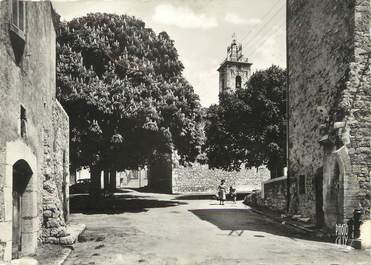 """/ CPSM FRANCE 06 """"Saint Vallier de Thiey, place du Four"""""""