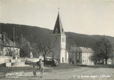 """/ CPSM FRANCE 38 """"Le Sappey, l'église"""""""