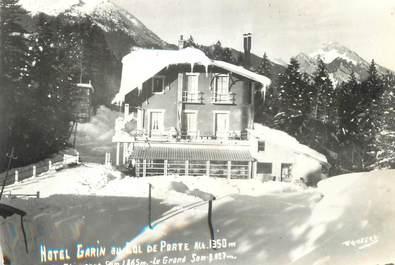 """/ CPSM FRANCE 38 """"Hôtel Garin au col de Porte, Le Charmant"""""""