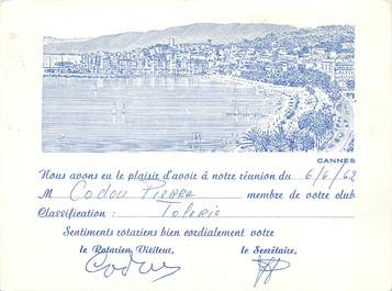 """/ CPSM FRANCE 06 """"Cannes, Rotary Club, hôtel Victoria"""""""