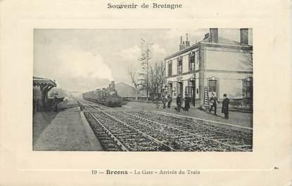 """CPA FRANCE  22 """"Broons, la gare"""" / TRAIN"""