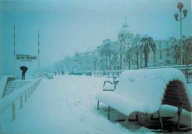 """/ CPSM FRANCE 06 """"Nice sous la neige, promenade des anglais"""""""