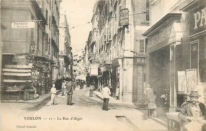 """CPA FRANCE 83 """"Toulon, La Rue d'Alger"""""""