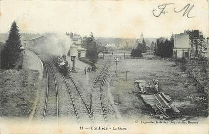 "CPA FRANCE 22 ""Caulnes, la Gare"" / TRAIN"