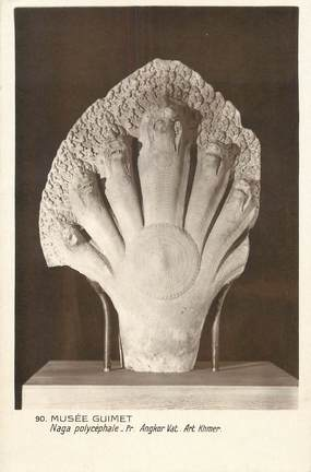 "CPA CAMBODGE ""Musée Guimet, Naga polycéphale"" / ARCHEOLOGIE"