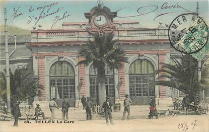 "CPA FRANCE 83 ""Toulon, La Gare"""