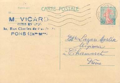"""CPA CARTE PUBLICITAIRE FRANCE 17 """"Pons"""""""