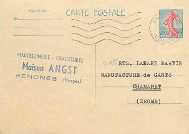 "CPA CARTE PUBLICITAIRE FRANCE 88 ""Senones, Maroquinerie Chaussures"""