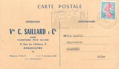 "CPA CARTE PUBLICITAIRE FRANCE 16 ""Angoulême, fournitures pour sellerie"""