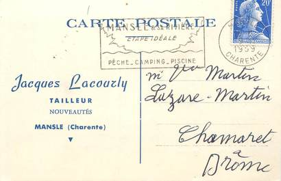 "CPA CARTE PUBLICITAIRE FRANCE 16 ""Mansle, Tailleur J. Lacourly"""