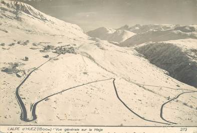 """/ CPSM FRANCE 38 """"L'Alpe d'Huez, vue générale sur la Meije"""""""