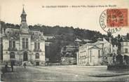 """02 Aisne / CPA FRANCE 02 """"Château Thierry, hôtel de ville, théâtre et place du marché"""""""