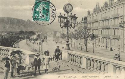 """/ CPA FRANCE 26 """"Valence, av Gambetta """""""