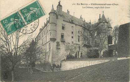 """/ CPA FRANCE 18 """"Châteauneuf sur Cher, le château"""""""