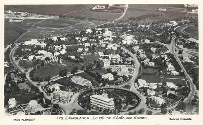 "CPSM MAROC ""Casablanca, la Colline d'Anfa vue d'avion"""