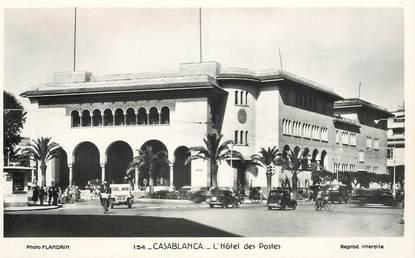 "CPSM MAROC ""Casablanca, l'Hotel des Postes"""