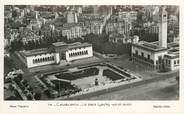 """Maroc CPSM MAROC """"Casablanca, la place Lyautey vue en avion"""""""