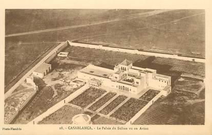 "CPA MAROC ""Casablanca, Le Palais du Sultan vu en avion"""