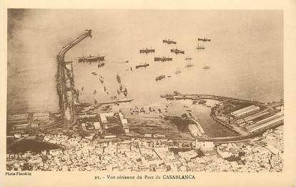 "CPA MAROC ""Casablanca, vue aérienne du Port"""