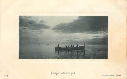 """CPA ALGERIE """"Alger, Palangrier ralliant le port"""" / Ed. GEISER"""