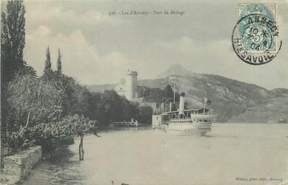 """/ CPA FRANCE 74 """"Lac d'Annecy, port de Duingt"""""""