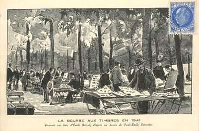 """CPA CARTE PUBLICITAIRE FRANCE 75008 """"Paris, La Bourse aux timbres en 1941"""""""