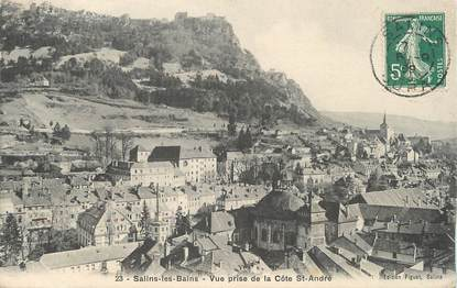 """/ CPA FRANCE 39 """"Salins Les Bains, vue prise de la Côte Saint André"""""""
