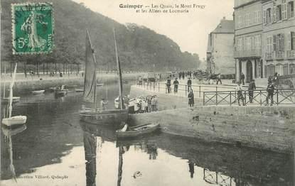 """/ CPA FRANCE 29 """"Quimper, les quais, le Mont Frugy"""""""