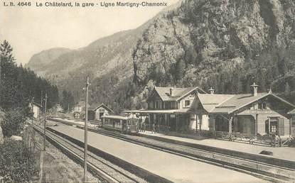 "CPA SUISSE ""Le Châtelard, la gare"" / TRAIN"