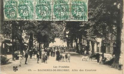 """/ CPA FRANCE 65 """"Bagnères de Bigorre, allée des Coustous"""" / TYPE BLANC"""