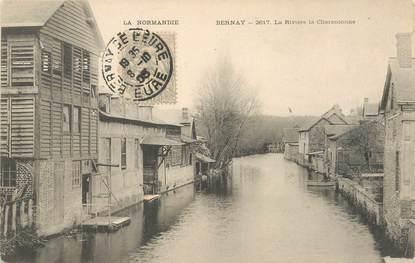 "/ CPA FRANCE 27 ""Bernay, la rivière la Charentonne"""