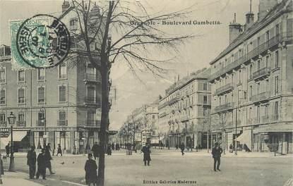 "/ CPA FRANCE 38 ""Grenoble, bld Gambetta"""