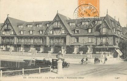 """/ CPA FRANCE 14 """"deauville, la plage Fleurie, Normandy Hôtel"""""""
