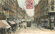 "59 Nord / CPA FRANCE 59 ""Douai, la rue de Bellain"" / TRAM"