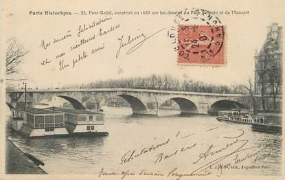 """/ CPA FRANCE 75001 """"Paris, pont Royal"""""""