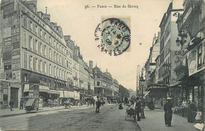"""/ CPA FRANCE 75006 """"Paris, rue de Sèvres"""""""