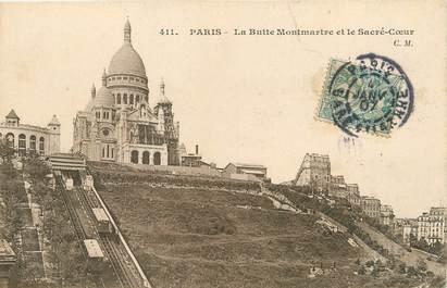 """/ CPA FRANCE 75018 """"Paris, la butte Montmartre, et le Sacré Coeur"""""""